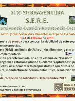 Reto S.E.R.E. (Supervivencia, Evasión, Resistencia, Escape)