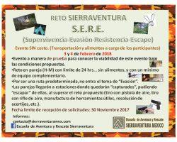 Reto S.E.R.E.  (3 – 4 Febrero 2018)